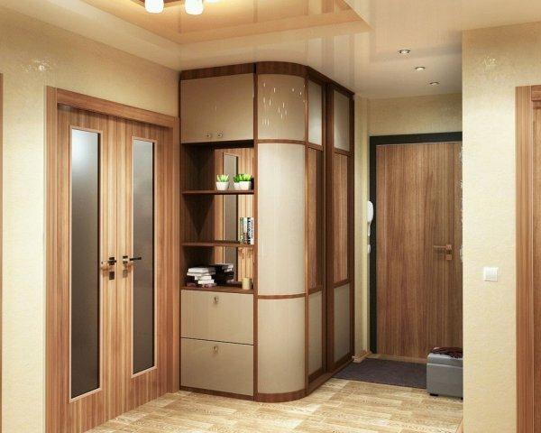 Современные радиусные шкафы совмещают невероятную вместительность и стильный дизайн