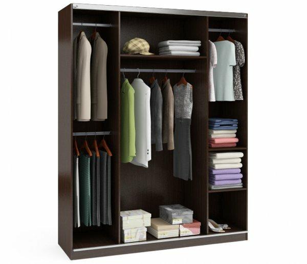 При рациональной организации пространства даже в шкафу с очень небольшими размерами поместится много вещей