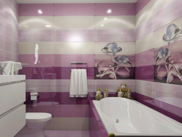 В ванной с таким дизайном хочется проводить как можно больше времени