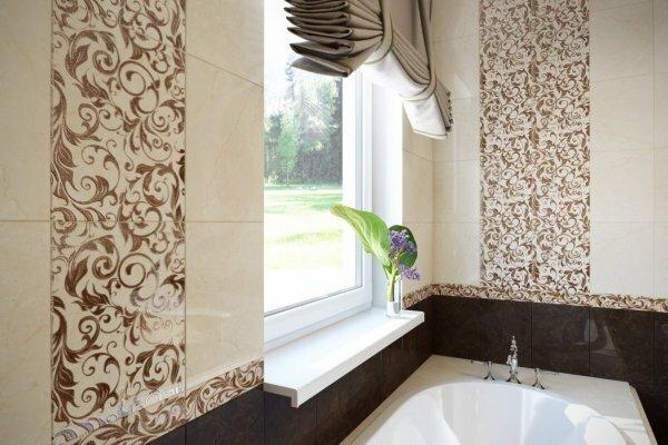 Рашель от Шахтинской плитки – потрясающий ажурный узор в ванной комнате