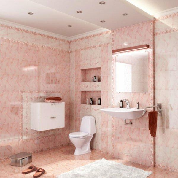 В ванной, отделанной керамической плиткой София от компании «Шахтинская плитка» будут рождаться ваши мечты