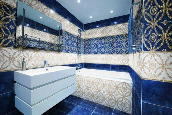 Кафельная плитка, как на фотографии, сделает вашу ванную комнату роскошной