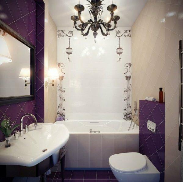 Даже маленькую ванную комнату с помощью креативного дизайна и итальянской плитки можно превратить в шедевр
