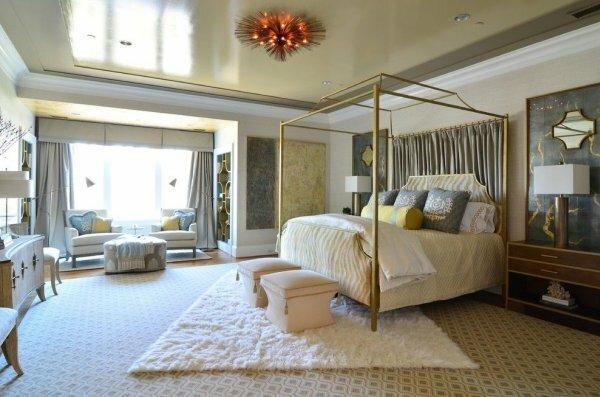 Нестандартное световое оформление спальни