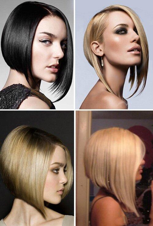 Каре с подчеркнутыми передними уголками для густых волос