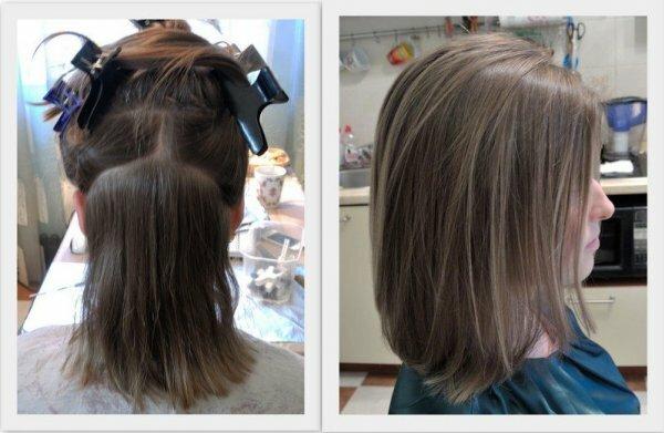Мелирование светло-каштановых волос при короткой стрижке