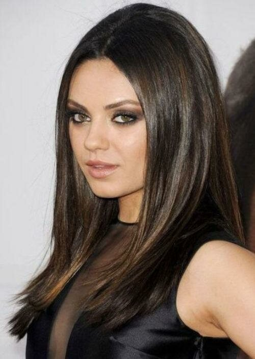 Мила Кунис и оттенок волос под названием эспрессо