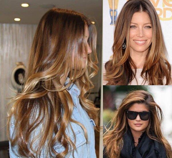 Мелирование идеально смотрится на золотистых волосах