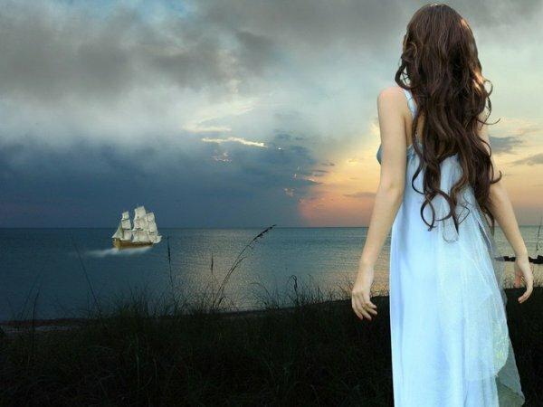 Символичное фото, его можно поставить девушке, которая ждет возвращения любимого
