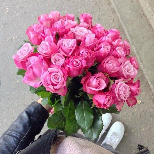 Розовые розы – признак женственности