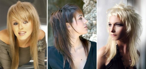 Рваный каскад смотрится эффектно на волосах разной длины