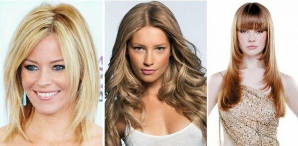 Более традиционный вариант каскада на средние волосы