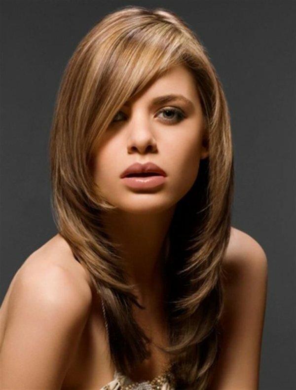 Естественное частое мелирование на русые волосы
