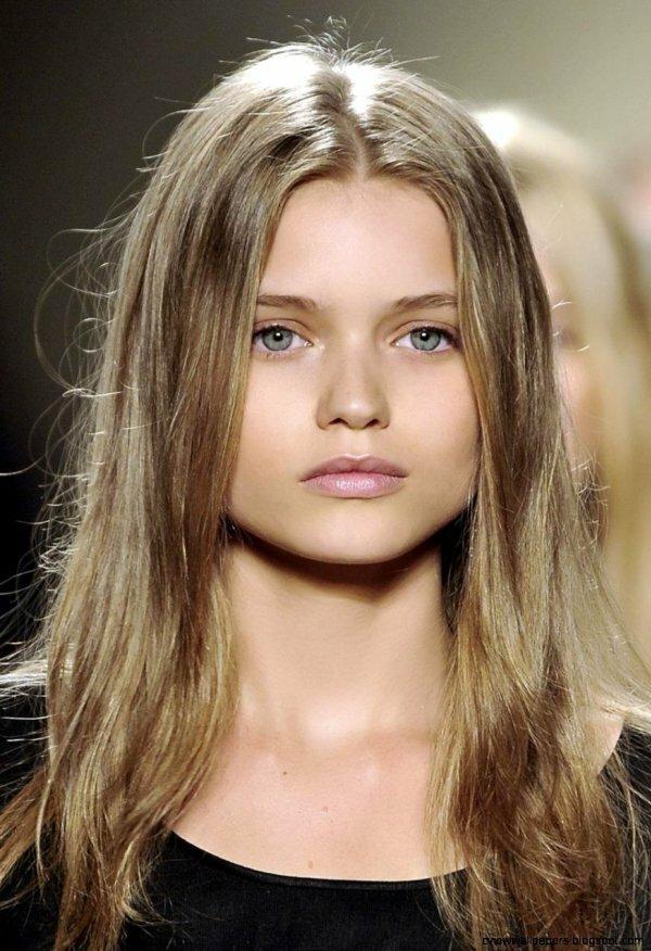 Частое пепельное мелирование на средне-русых волосах