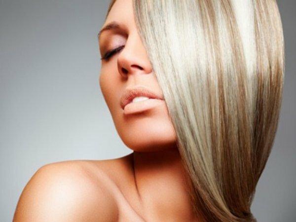 Частое пепельное мелирование на темно-русые волосы