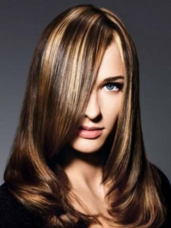 Креативное мелирование каштановых волос