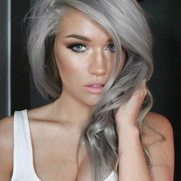 «Креативная седина» на светлые волосы