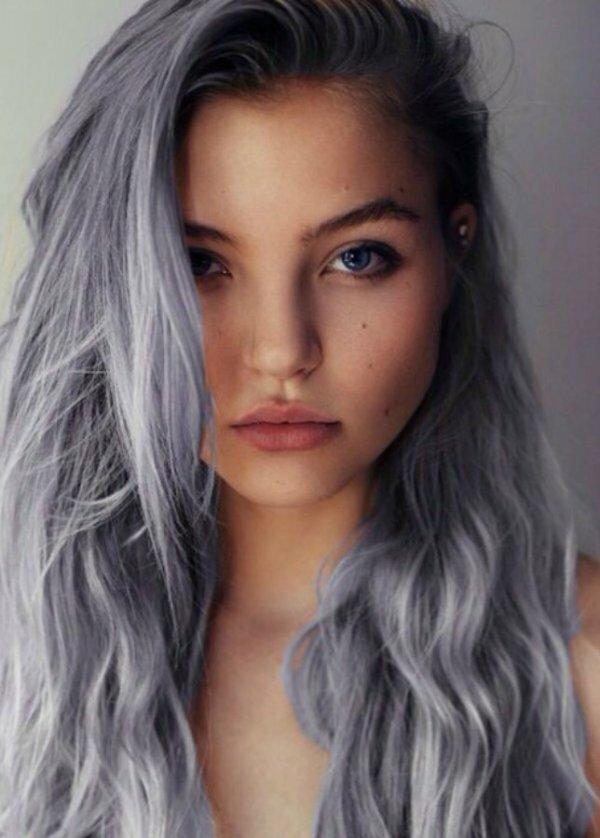 «Креативная седина» на темные волосы