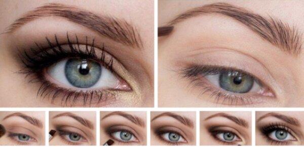 Простой повседневный макияж со стрелками делается очень просто, в 6 шагов