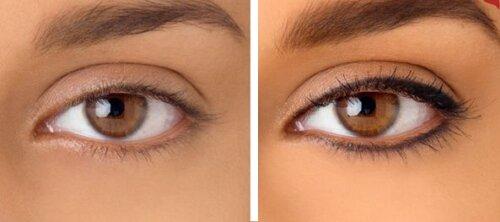 Ещё вариант темно-синего татуажа глаз