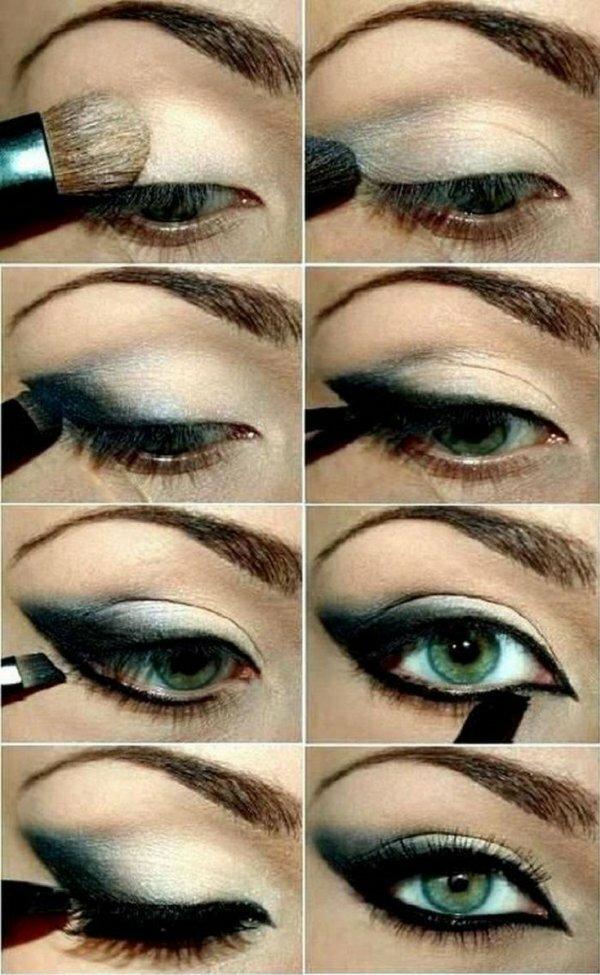 Интенсивный макияж с растушевкой