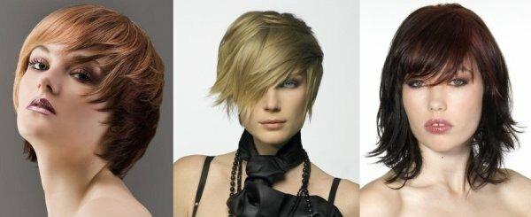Три варианта короткой стрижки для круглого лица