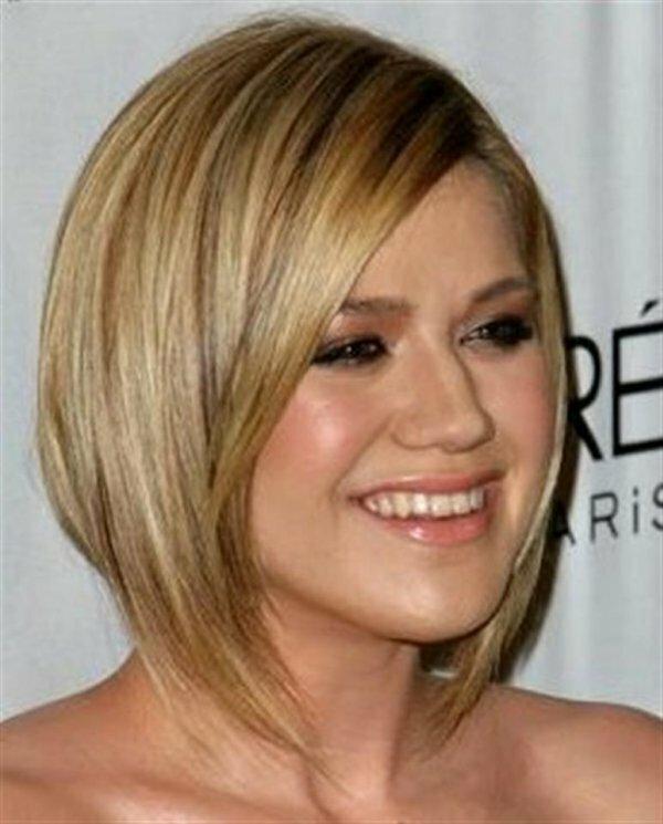 Каре с удлинением на средние волосы для тонких волос