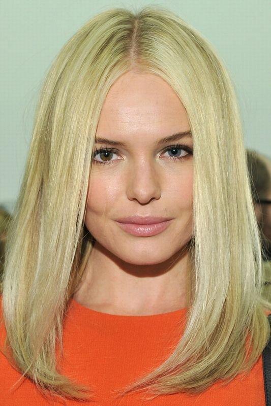 Прямое и гладкое каре на тонкие светлые волосы