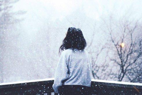 Зимний вечер на веранде