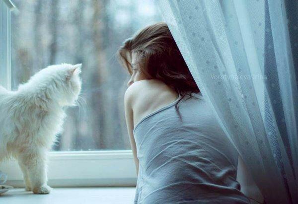 Зимнее утро, одна дома…