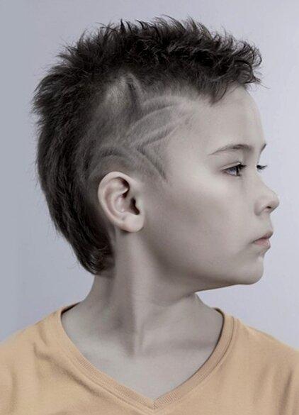 Стрижка с рисунком для мальчика 12 лет