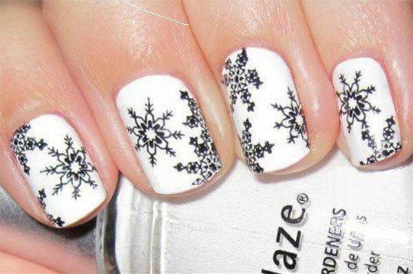 Оригинальные черно-белые «снежинки»