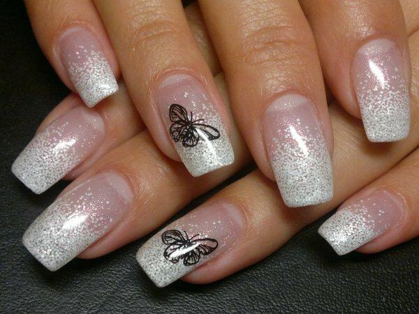 Искрящиеся «бабочки» + снежный градиент