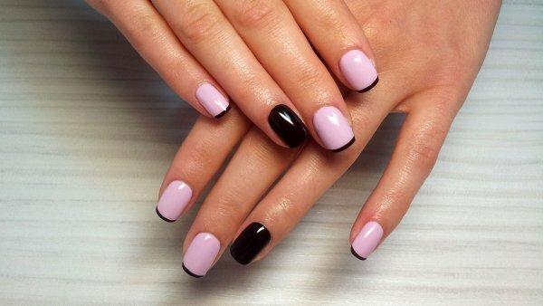 Черно-розовый френч