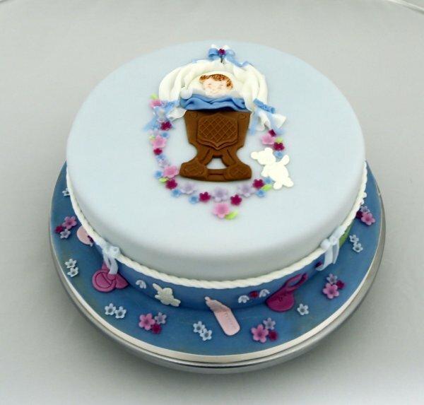 Торт « Ангел в колыбельке»