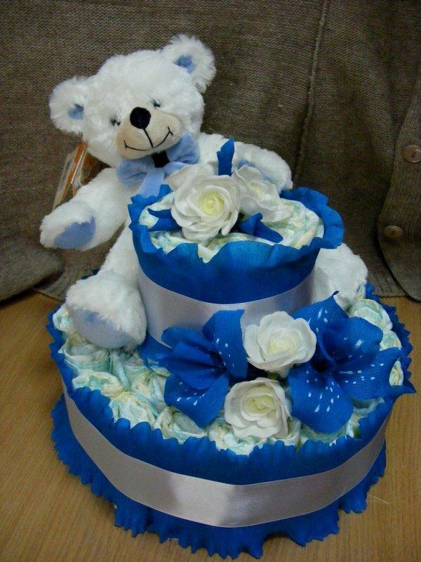 Самодельный торт «Белый мишка»
