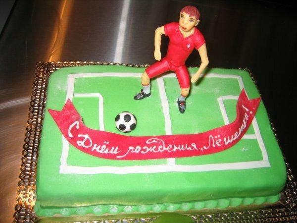 Спортивный тортик «Футболист»