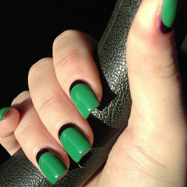 Зеленый лунный + черная «луна»