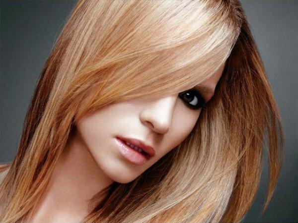 Рыжее колорирование на светлые волосы