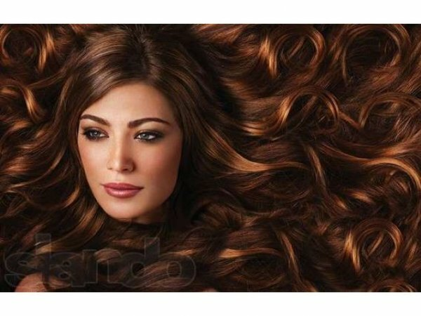 «Огненное окрашивание ‒ темно-русые волосы