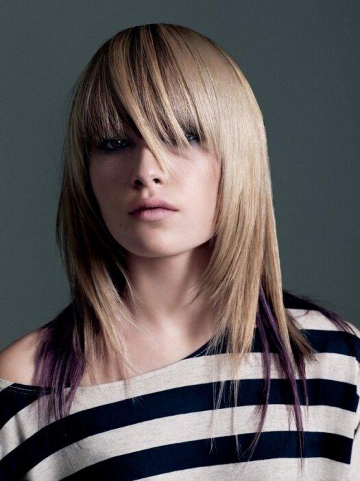 Каре на тонкие волосы + длинная прямая челка