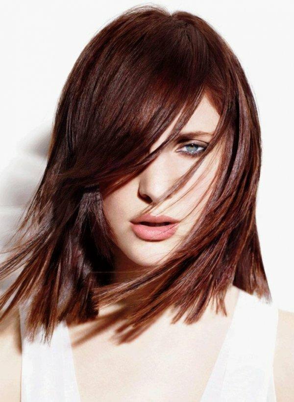 «Рваное» каре на тонкие волосы