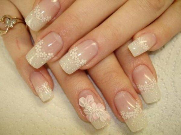 Нежный свадебный стиль – белые цветы