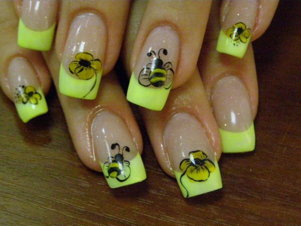 Весёлые пчелки + желтые кончики