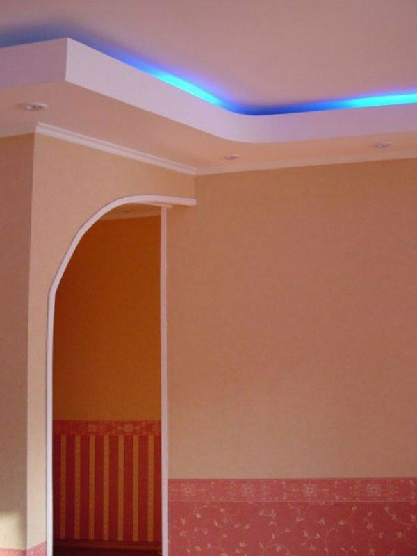 Скошенная арка + неоновая лента