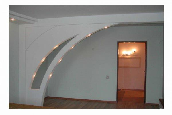 «Асимметрия» + точечные светильники