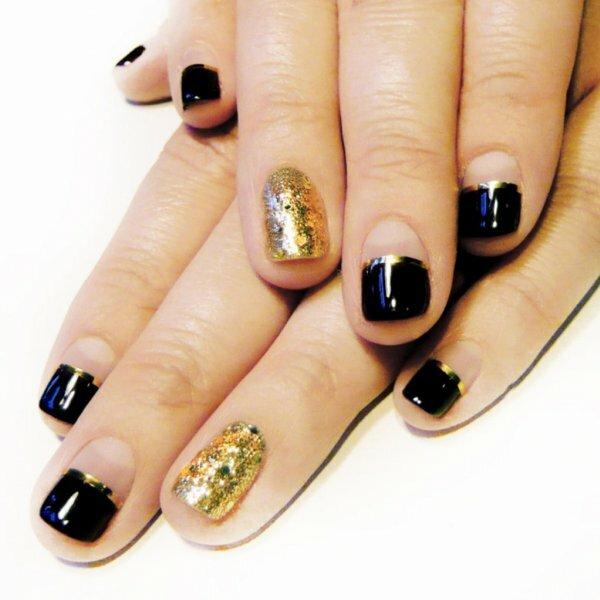 Черный и сверкающее золото – роскошно!