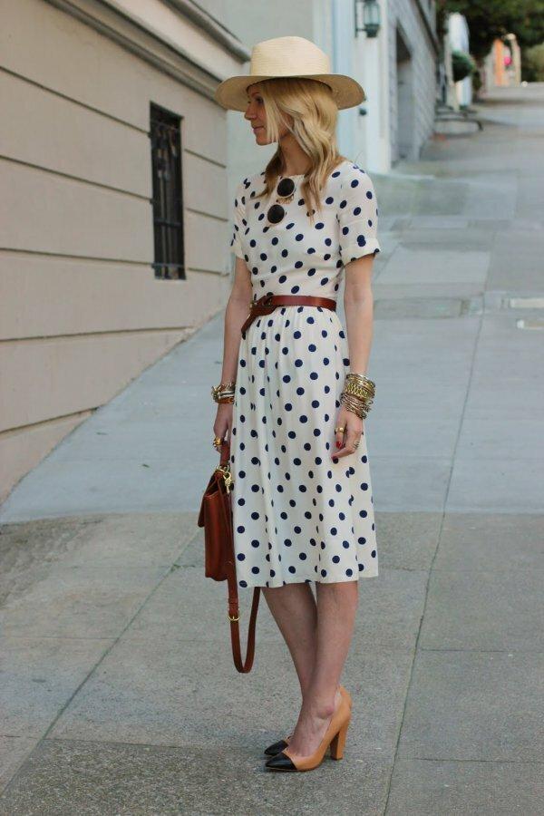 Милое платье для города в стиле 1950-х