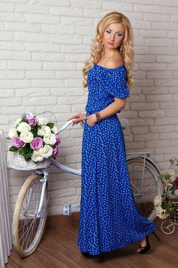 Милое платье с «морскими» мотивами