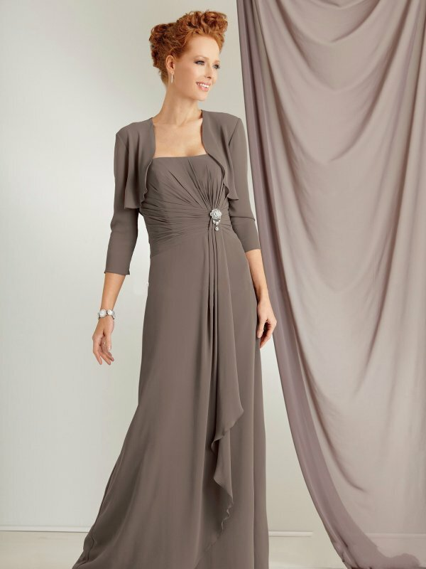 Элегантное платье с закрытой спиной + болеро